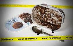 Scène gourmande (Photo d'un bac de glace aux chocolats Picard)